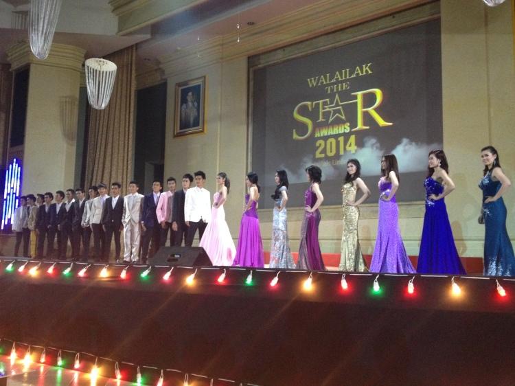 Présentation des candidats en tenue de gala