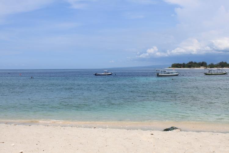 Une plage de Gili Trawangan
