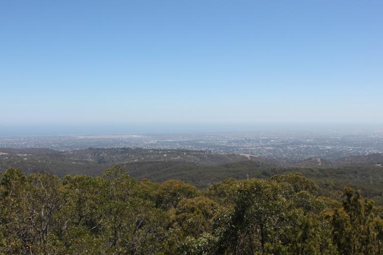 La vue des collines sur Adelaide