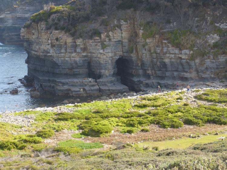 Petit aperçu des falaise, en miniature dans ce cas-ci